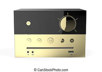 zlatý, reprodukce zvuku, systém