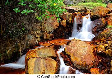 zlatý, taiwan, vodopád