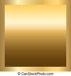 zlatý, tkanivo, čtverec, zlatý, konstrukce