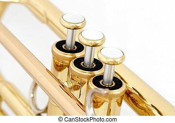 zlatý, trubka, elektronka