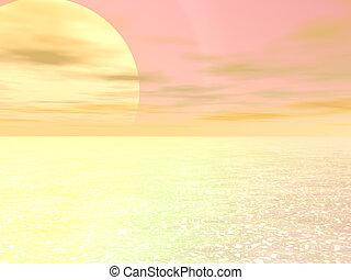 zlatý, východ slunce