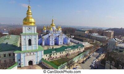 Zlatoverhyy Monastery aerial view.