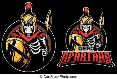 zmarły, spartans, maskotka