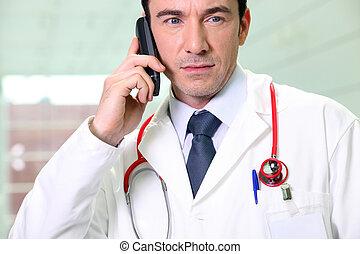 zmartwiony, doktor