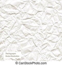 zmięty, biały, papier