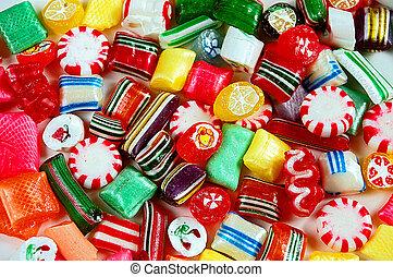 zmieszać, barwny, cukierek