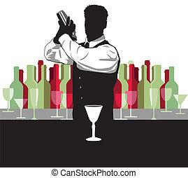 zmieszać, cocktail