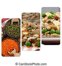 zmieszać, kasownik, bobow, jadło, surowy, collage