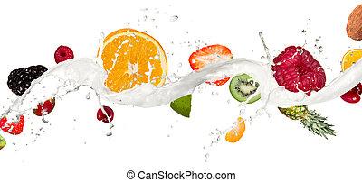 zmieszać, owoc