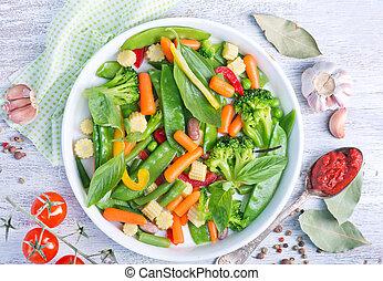 zmieszać, warzywa