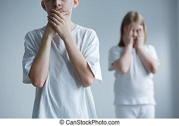 znęcanie się, znękany, problem, dzieci, dziecko