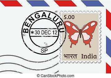znaczek pocztowy, bengaluru