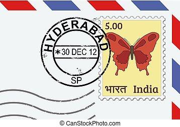 znaczek pocztowy, hyderabad