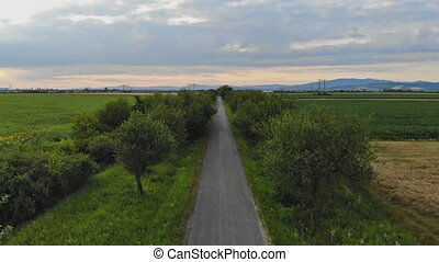 znaczenie, między, fields., kasownik, miejscowy, krajobraz, ...