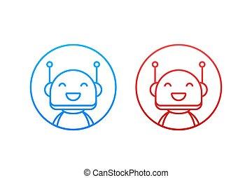 znak, chatbot, design., bot, illustration., online, concept...