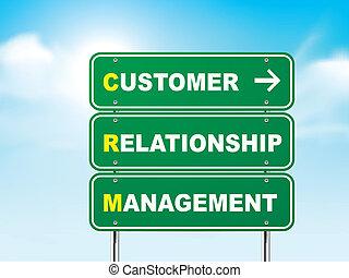 znak, droga, związek, kierownictwo, klient, 3d