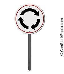 znak, handel, karuzela, ikona