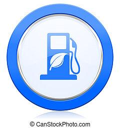 znak, ikona, opał, bio, biofuel