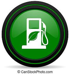 znak, ikona, zielony, opał, bio, biofuel