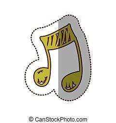 znak, muzyka notują, ikona