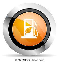 znak, pomarańcza, ikona, opał, bio, biofuel