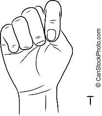 znak, t, język, litera, alfabet
