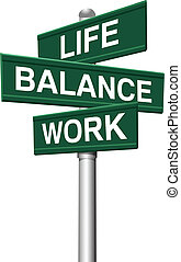 znaki, waga, życie, praca, wybory