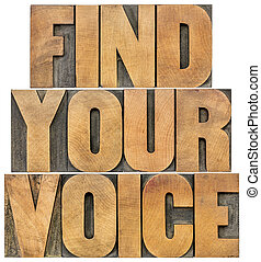 znaleźć, twój, głos