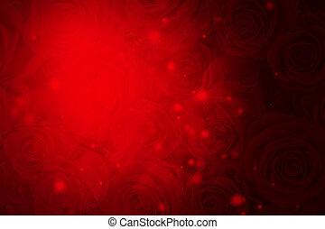 znejmilejší den, červené šaty grafické pozadí