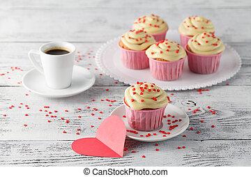 znejmilejší den, cupcakes, ozdobený, s, herce