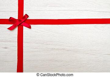 znejmilejší den, grafické pozadí, s, červené šaty lem, nad, dřevo