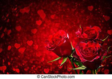 znejmilejší den, grafické pozadí, s, růže