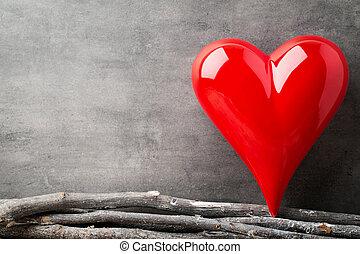 znejmilejší, hearts., den, grafické pozadí