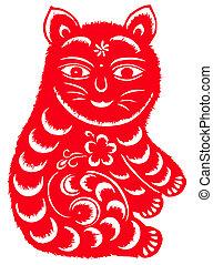 zodíaco, chino, gato