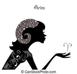 zodíaco, moda, niña, aries., señal