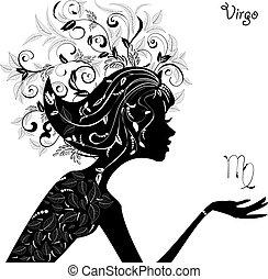 zodíaco, moda, señal, niña, virgo.
