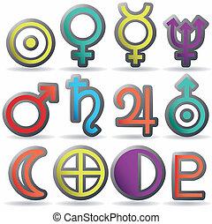 zodiac and astrology symbols