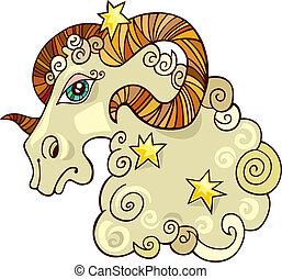 Zodiac aries sign - Illustration of zodiac aries sign