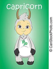 zodiac baby capricorn vector