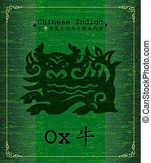 zodiac, -, chinees, os