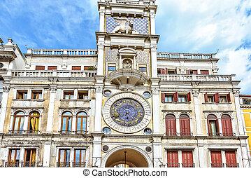 Zodiac clock at San Marc Square in Venice, Italy