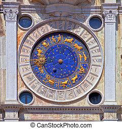 Zodiac clock at San Marco square in Venice