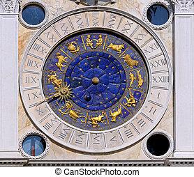 Zodiac clock San Marco