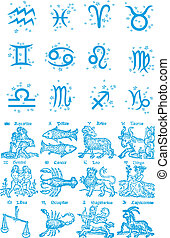zodiac, constellatie, symbool