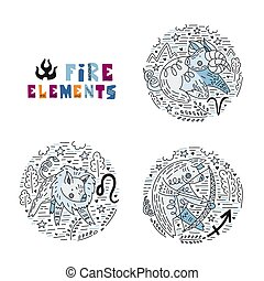 Zodiac Fire Elements Set