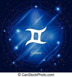 zodiac, gemini, meldingsbord