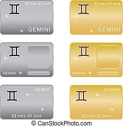 zodiac, gemini, teken.