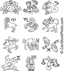 Zodiac horoscope astrology signs
