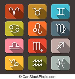 Zodiac - Horoscope Symbols - Signs