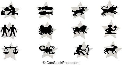 zodiac icon on white background